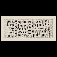 Kratka ABC kremowa 17x37