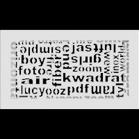 Kratka ABC biała 17x30