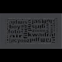 Kratka ABC grafitowa 17x30