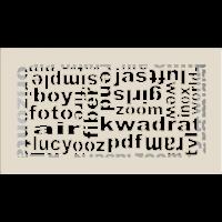 Kratka ABC kremowa 17x30