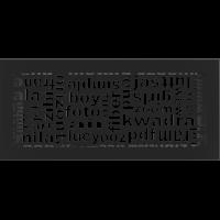 Kratka ABC czarna 17x37