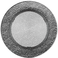 Kratka okrągła czarno-srebrna fi 150