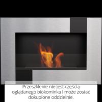 Biokominek wiszący DELTA czarny QUBE
