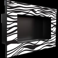 Biokominek wiszący DELTA czarny ZEBRA z certyfikatem TÜV