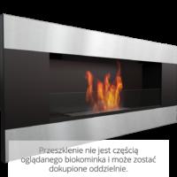 Biokominek wiszący DELTA 2 czarny HORIZONTAL