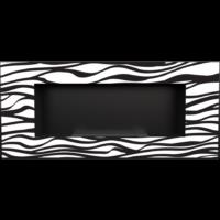 Biokominek wiszący DELTA 2 czarny ZEBRA z certyfikatem TÜV