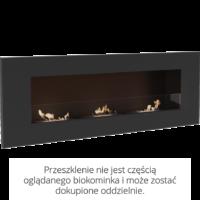 Biokominek wiszący DELTA 3 czarny
