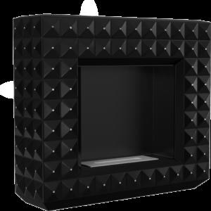 Biokominek EGZUL czarny z kryształami Swarovski mat