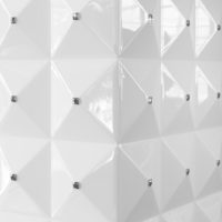 Biokominek EGZUL biały z kryształami Swarovski połysk