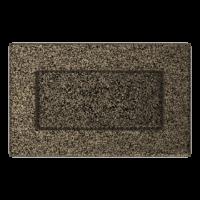 Kratki prostokątne Kratka czarno-złota 11x17