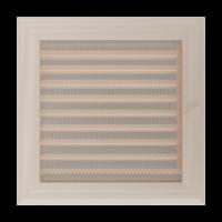 Kratki prostokątne Kratka Oskar kremowa z żaluzją 22x22