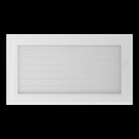 Kratki prostokątne Kratka Oskar biała z żaluzją 17x30