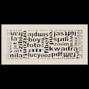kratki ozdobne Kratka ABC kremowa 17x37