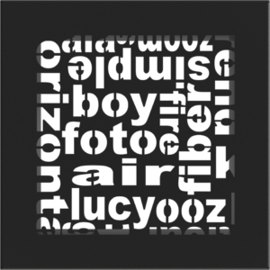 kratki ozdobne Kratka ABC czarna 17x17