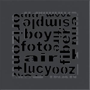 kratki ozdobne Kratka ABC grafitowa 17x17