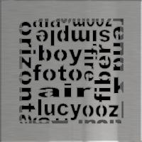 Kratki ozdobne Kratka ABC szlifowana 17x17
