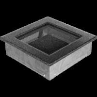 Kratki prostokątne Kratka czarno-srebrna 17x17