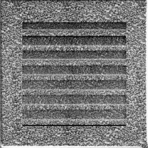 Kratki prostokątne Kratka FRESH czarno-srebrna 17x17