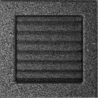 Kratki prostokątne Kratka czarno-srebrna z żaluzją 17x17