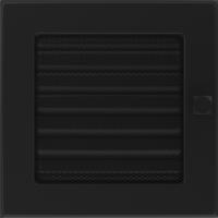 Kratki prostokątne Kratka czarna z żaluzją 17x17