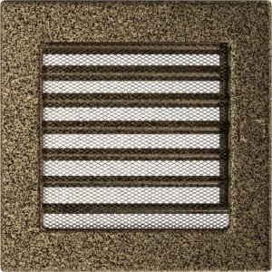 Kratki prostokątne Kratka czarno-złota z żaluzją 17x17