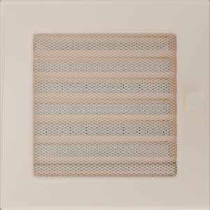Kratki prostokątne Kratka kremowa z żaluzją 17x17