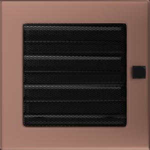Kratki prostokątne Kratka miedź galwaniczna z żaluzją 17x17