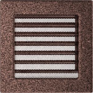 Kratki prostokątne Kratka miedziana z żaluzją 17x17