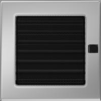Kratki prostokątne Kratka niklowana z żaluzją 17x17