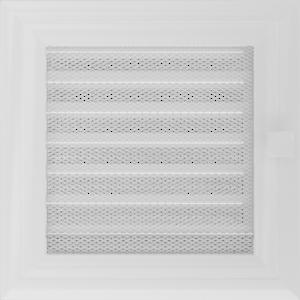 Kratki prostokątne Kratka Oskar biała z żaluzją 17x17