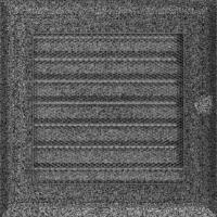 Kratki prostokątne Kratka Oskar czarno-srebrna z żaluzją 17x17