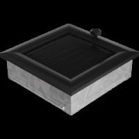 Kratki prostokątne Kratka Oskar czarna z żaluzją 17x17