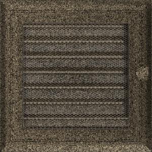 Kratki prostokątne Kratka Oskar czarno-złota z żaluzją 17x17