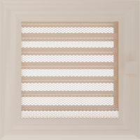 Kratki prostokątne Kratka Oskar kremowa z żaluzją 17x17
