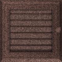 Kratki prostokątne Kratka Oskar miedziana malowana z żaluzją 17x17