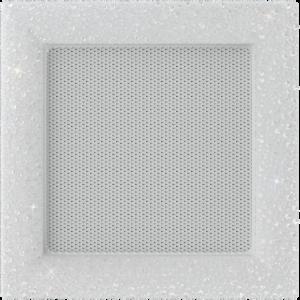 kratki ozdobne Kratka Venus z kryształami Swarovski biała 17x17