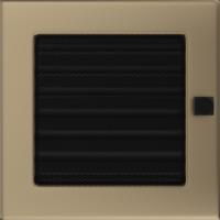 Kratki prostokątne Kratka złoto galwaniczne z żaluzją 17x17