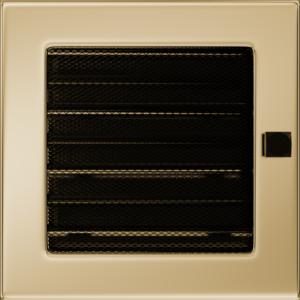 Kratki prostokątne Kratka pozłacana z żaluzją 17x17
