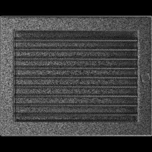 Kratki prostokątne Kratka czarno-srebrna z żaluzją 22x30