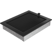 Kratki prostokątne Kratka czarna z żaluzją 22x30