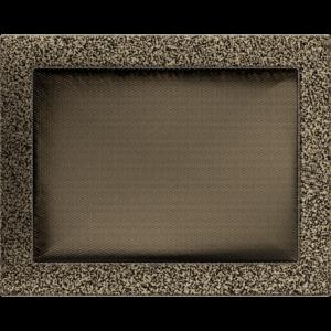 Kratki prostokątne Kratka czarno-złota 22x30