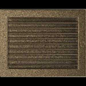 Kratki prostokątne Kratka czarno-złota z żaluzją 22x30