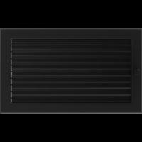 Kratki prostokątne Kratka czarna z żaluzją 22x37