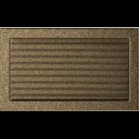 Kratki prostokątne Kratka czarno-złota z żaluzją 22x37