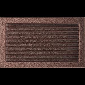 Kratki prostokątne Kratka miedziana z żaluzją 22x37