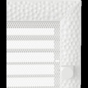 Kratki prostokątne Kratka Venus biała z żaluzją 17x37