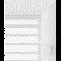 Kratki prostokątne Kratka Venus biała z żaluzją 17x17
