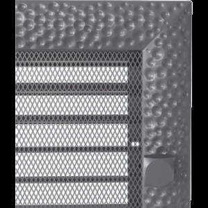 Kratki prostokątne Kratka Venus grafitowa z żaluzją 17x49