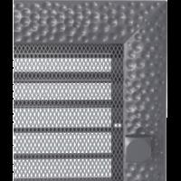Kratki prostokątne Kratka Venus grafitowa z żaluzją 17x17