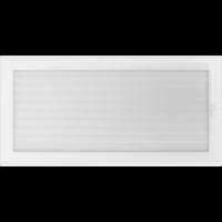 Kratki prostokątne Kratka biała z żaluzją 22x45